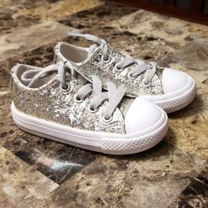 Infant/ Toddler girl glitter Converse